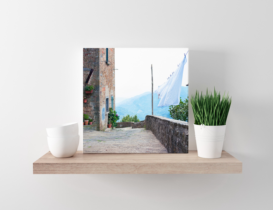 Tuscan Canvas on shelf