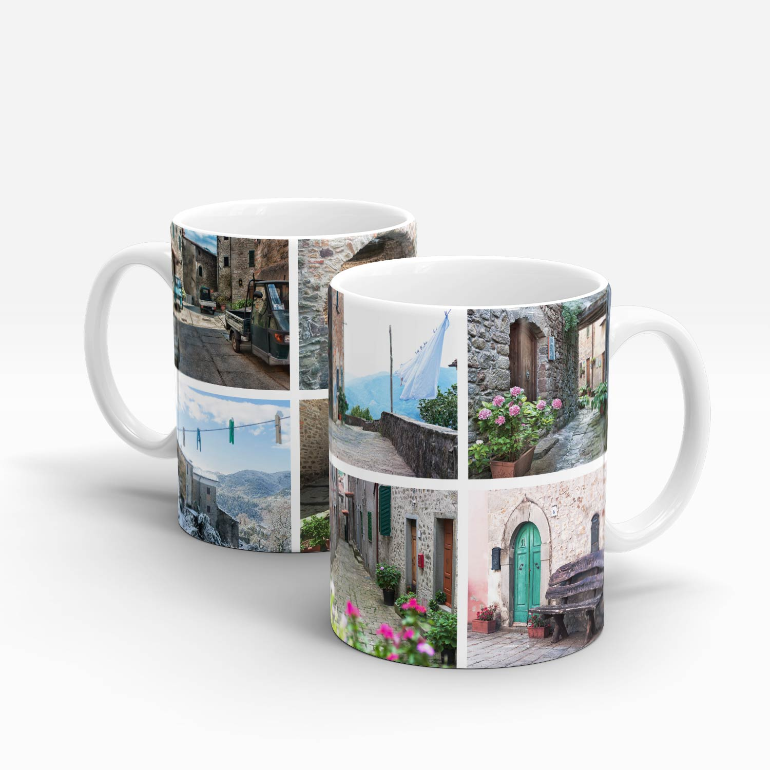 11oz mug left and right angle Tuscan streets