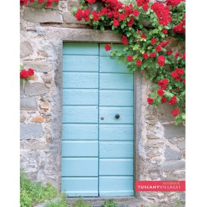 Notebook Cover Tuscan Door and flowers