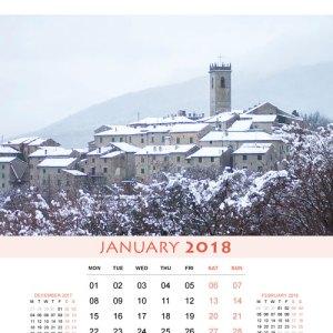 January-2018 Calendar