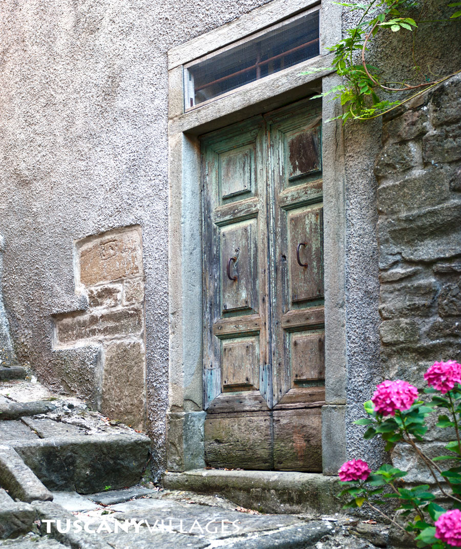 old green door, Tuscany, Italy