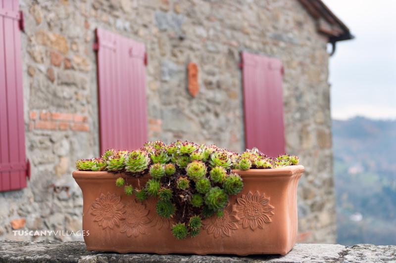 red shutters, Tuscany, Aramo, pescia