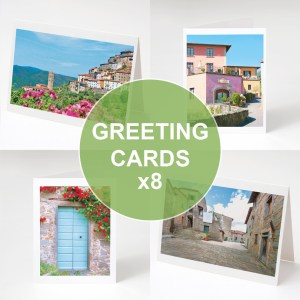 Pack of Cards 8 Greeting Cards, Tuscany, Italy