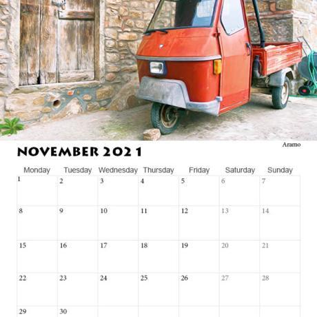 2021 Calendar Italy, Tuscany