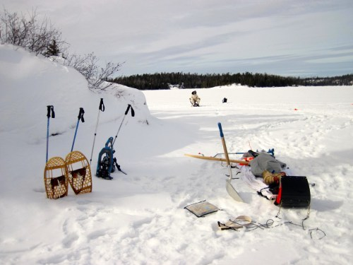 Eastern BWCAW ice fishing and winter camping
