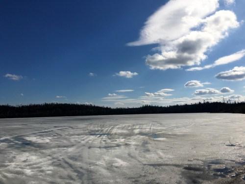 Round Lake Tuscarora Lodge Spring Ice 2016