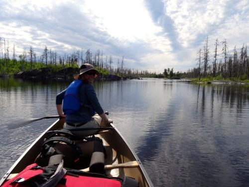Paddling the Granite River between Little Rock Falls and Clove Lake