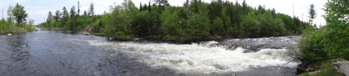 Sag Falls at the end of the Granite River by Saganaga Lake