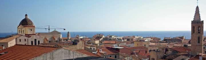 Vista del casco antiguo de L' Alguer
