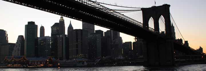 Vista del Puente de Brooklyn desde el río Este