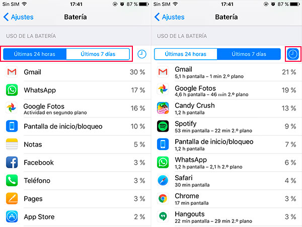 iphone apps bateria