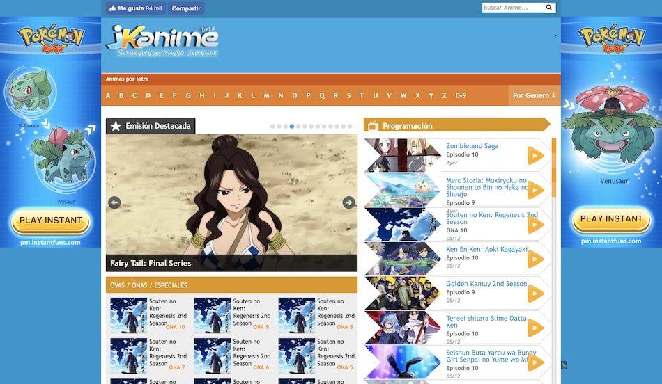 Dónde ver anime online