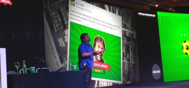 Caruso dio dos charlas motivacionales para Knorr