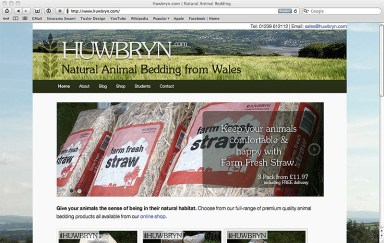Huwbryn homepage screenshot