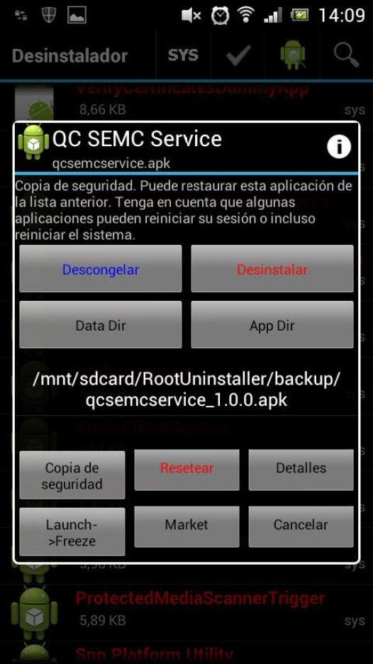 congelar aplicaciones android