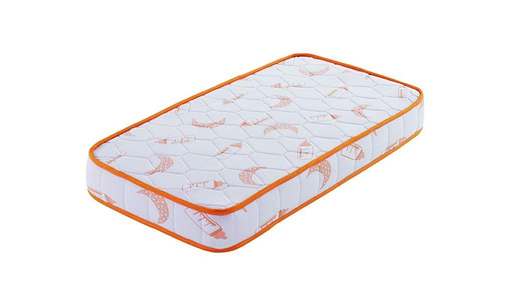 Colchón naranja bebé