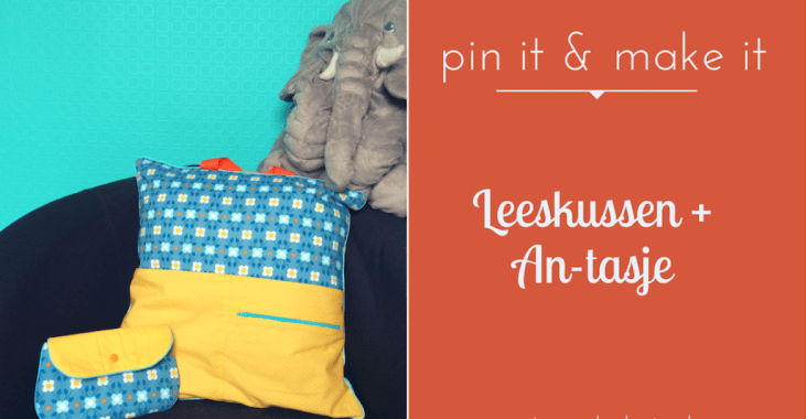 Pin it & make it: leeskussen + An-tasje