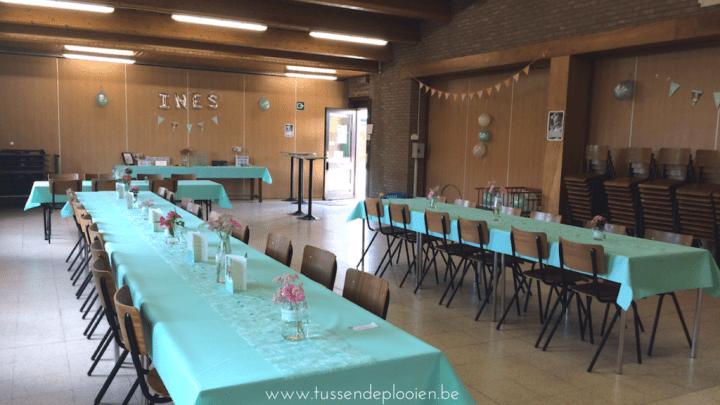 Eerste communie - De feestzaal