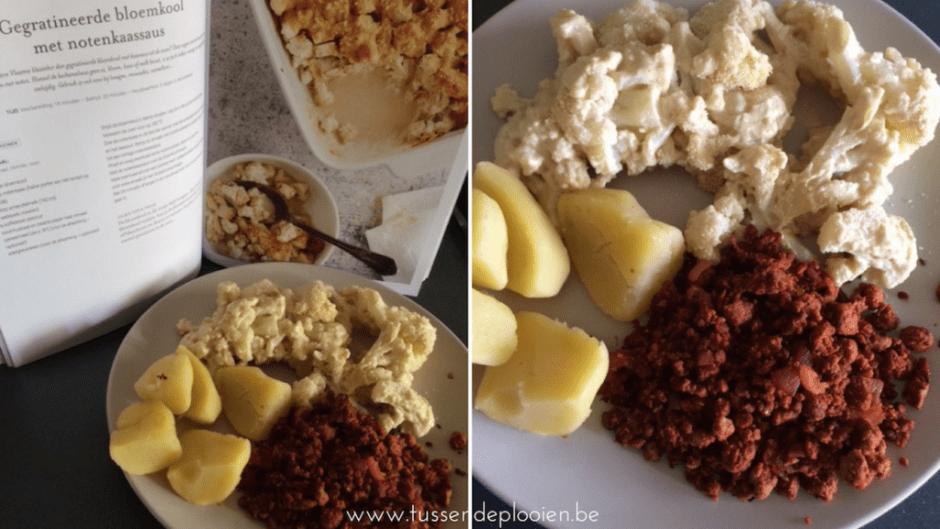 Easy vegan met Julie #kookboekweek - Bloemkool met notenkaas