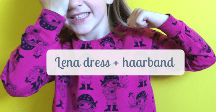 Lena dress + Emma&Mona haarband (tricot)