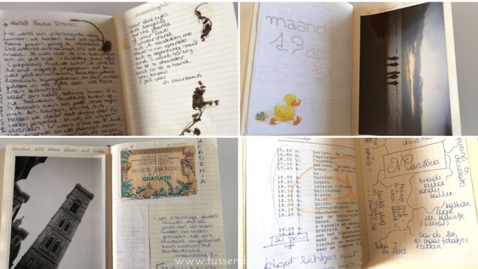 Italiëreis - Herinneringsboekje binnenin