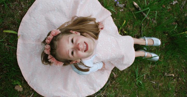 Roze zondag - communiekleed