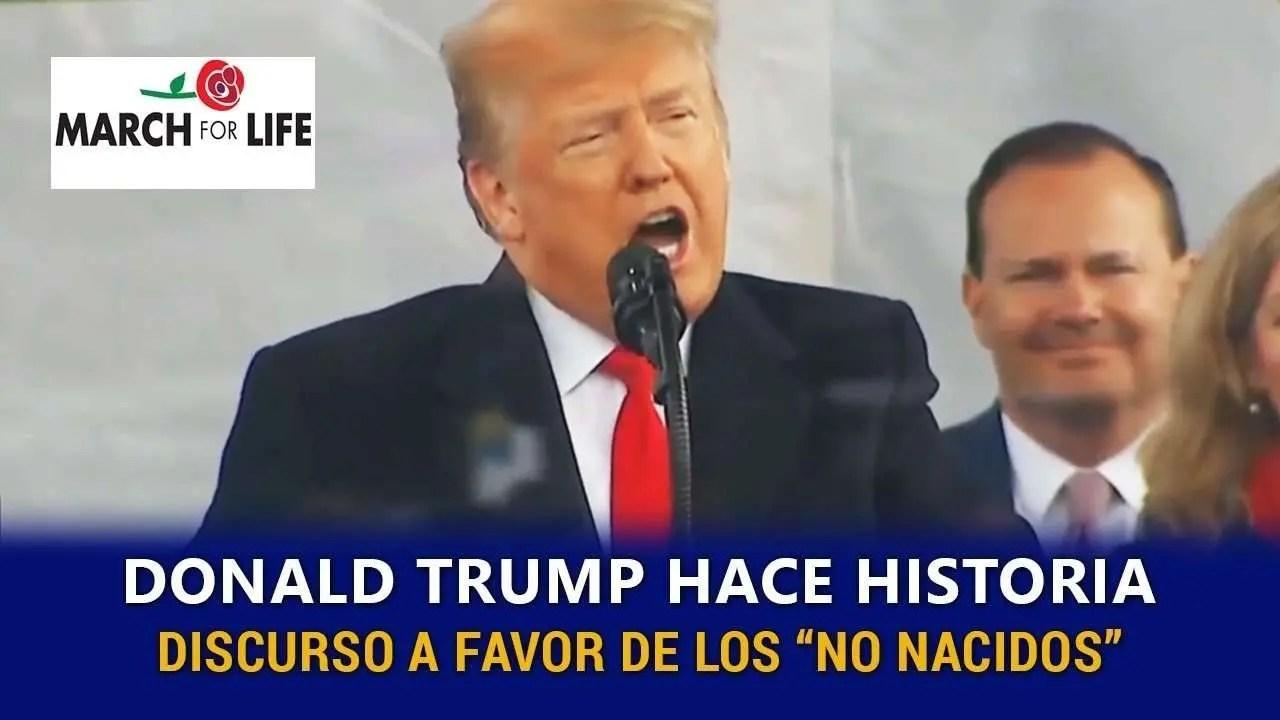 En este momento estás viendo Donald Trump vuelve a hacer historia al sumarse a la Marcha Pro Vida