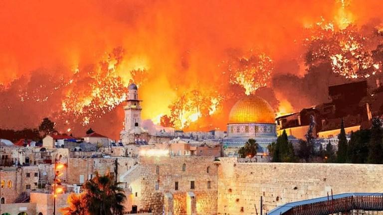 Israel en llamas, fuego en las afueras de Jerusalén