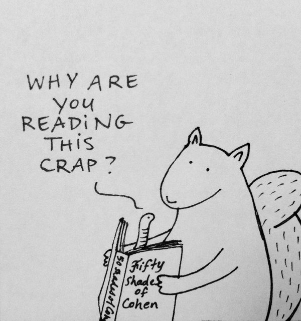 Tut and Groan Guest Toon Bookworm by Diary of a Squirrel cartoon