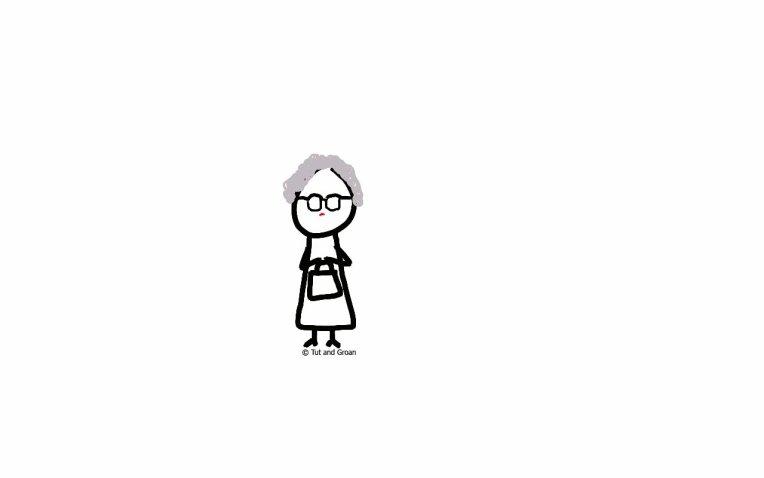 Tut and Groan Caroline Aherne tribute cartoon