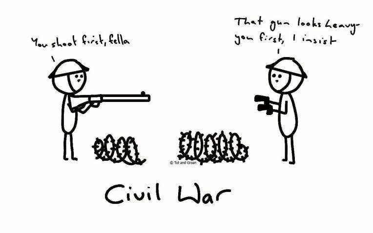 Tut and Groan Civil War cartoon
