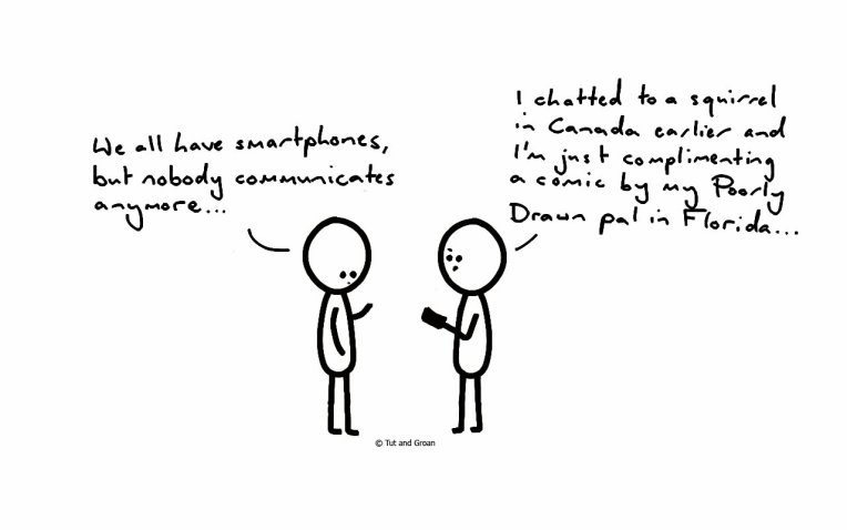 Tut and Groan Smartphones cartoon