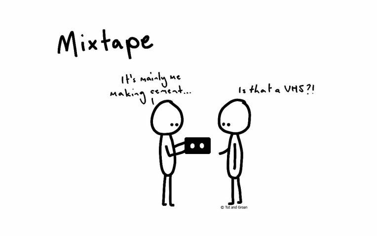 Tut and Groan Mixtape cartoon