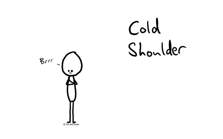 Tut and Groan Cold Shoulder cartoon