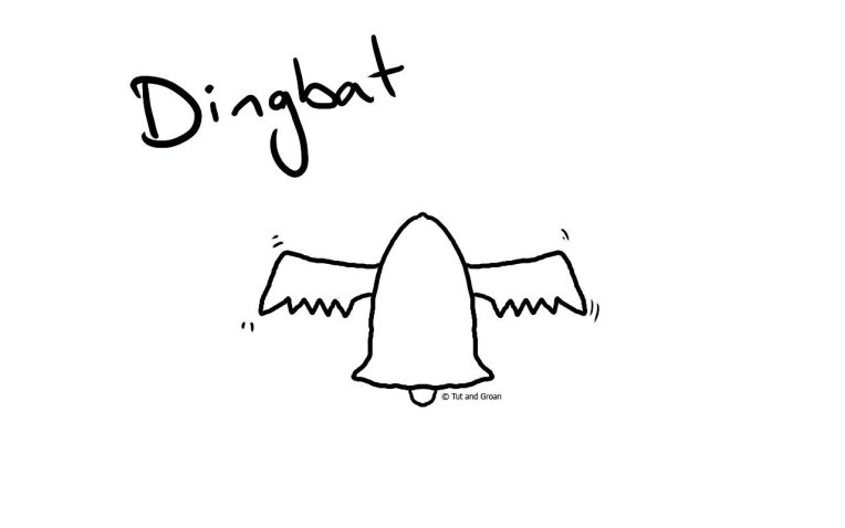 Tut and Groan Dingbat cartoon