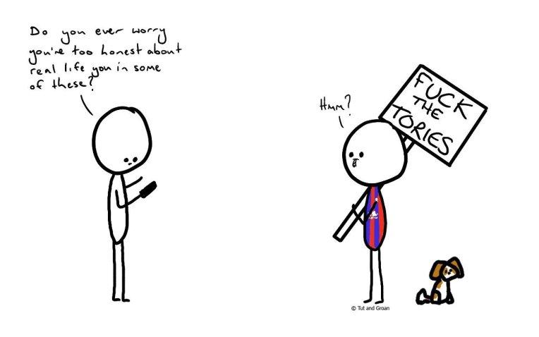 Tut and Groan Too Honest cartoon