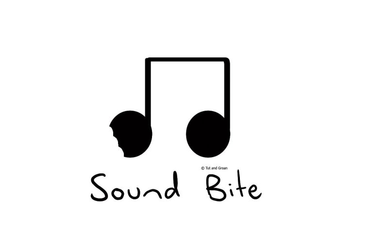 Tut and Groan Sound Bite cartoon