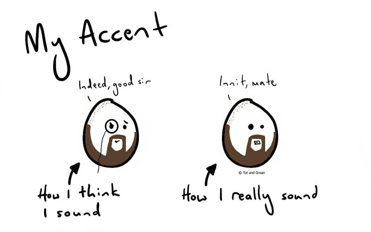 Tut and Groan My Accent cartoon