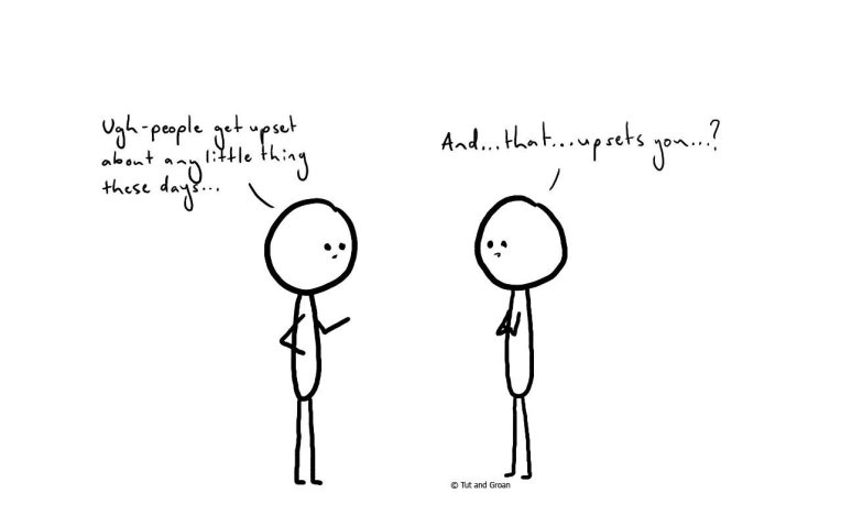 Tut and Groan Upset cartoon