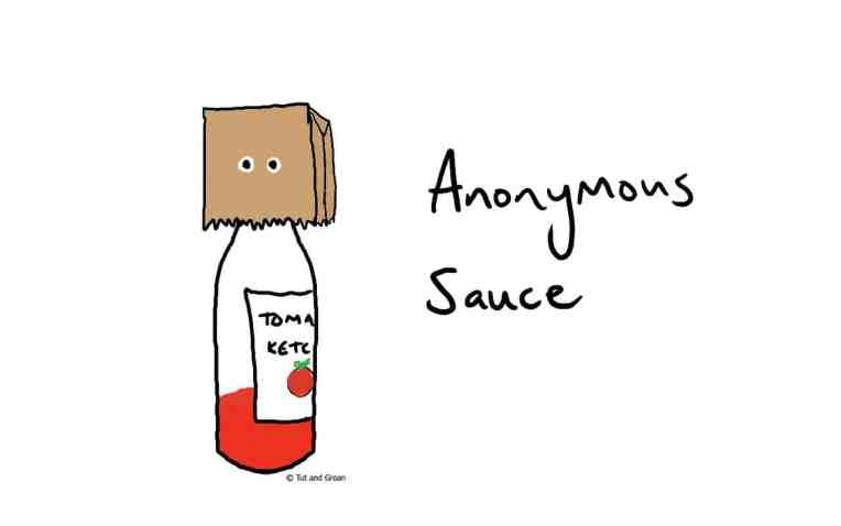 Tut and Groan Anonymous Sauce cartoon