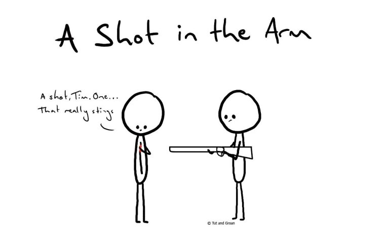 Tut and Groan A Shot in the Arm cartoon