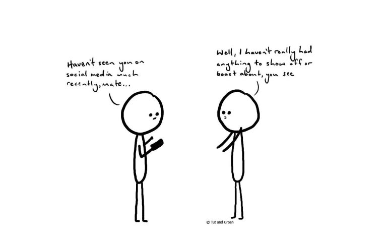 Tut and Groan Boast cartoon