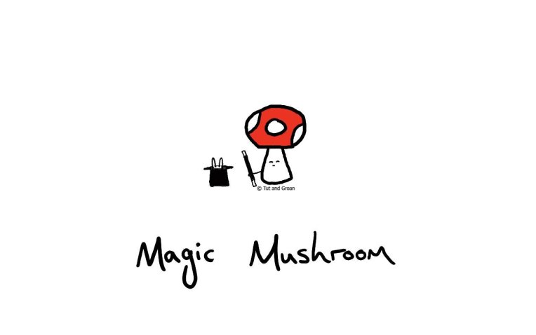 Tut and Groan Magic Mushroom cartoon