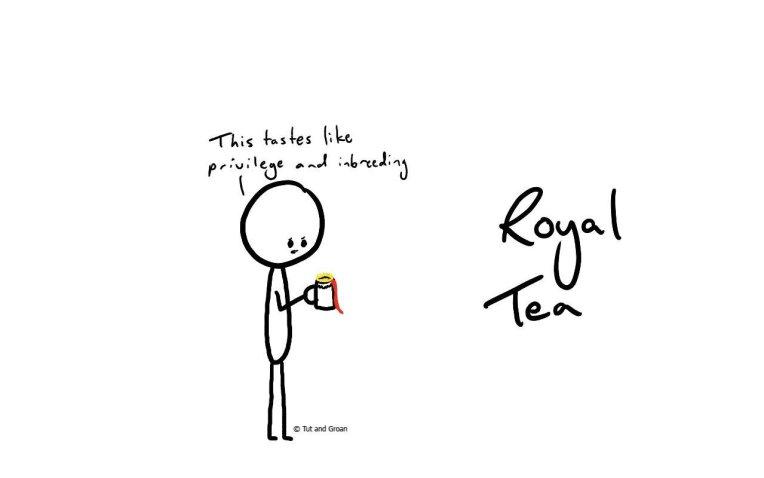 Tut and Groan Royal Tea cartoon