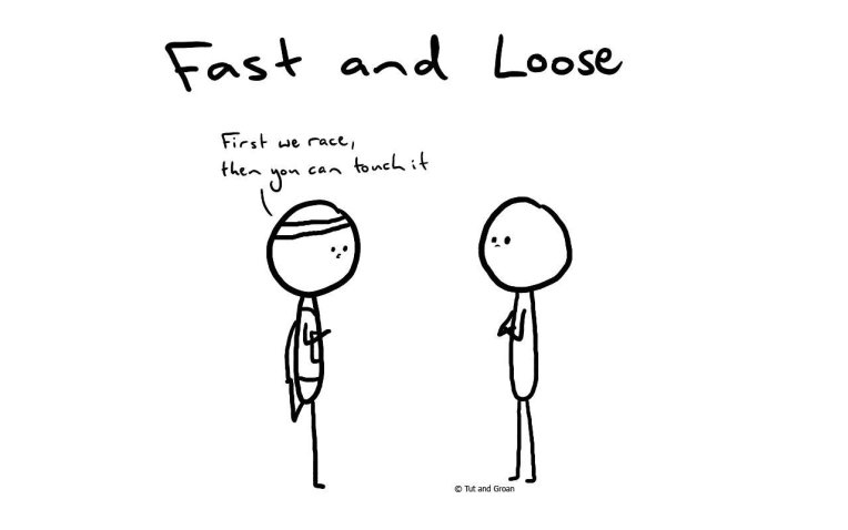 Tut and Groan Fast and Loose cartoon