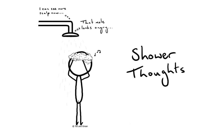 Tut and Groan Shower Thoughts cartoon