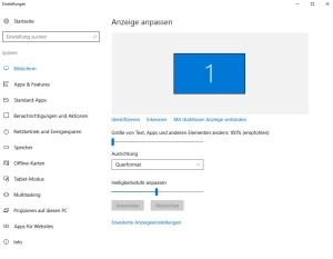 Windows Einstellungen Bildschirm