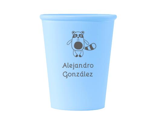 Bicchiere Azzurro Orsetto Personalizzato