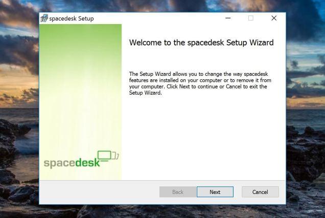 Utilisation de Spacedesk