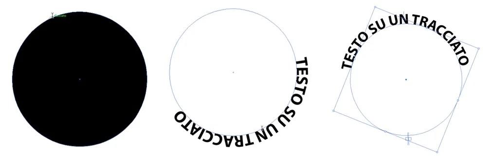 Strumento di testo sul cerchio